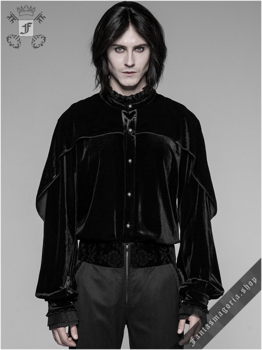 Romantic goth shirt WY-926/BK Punk Rave 0