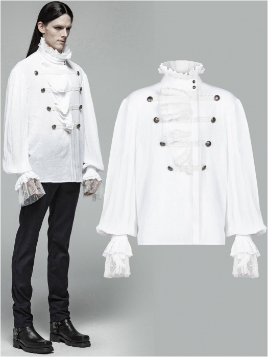 Roque Baroque shirt in white WY-1031/WH Punk Rave 0