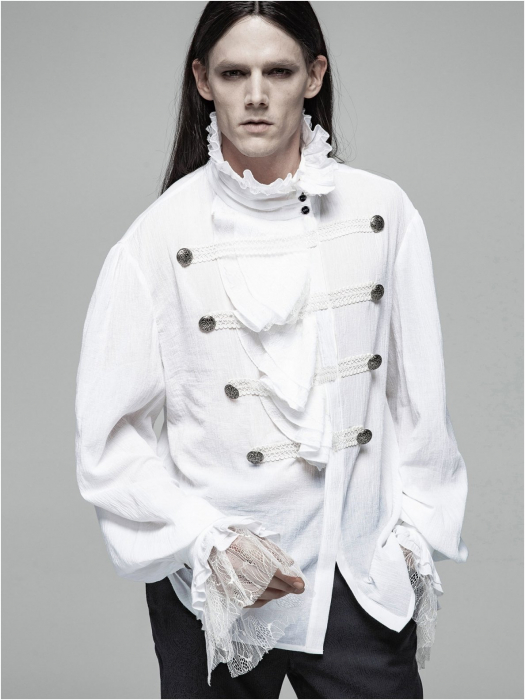Roque Baroque shirt in white WY-1031/WH Punk Rave 1