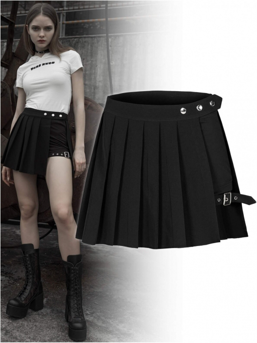 Satori shorts with over-skirt OPQ-467/BK Punk Rave 0