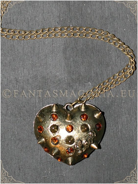 Steampunk Spikes Heart pendant 0