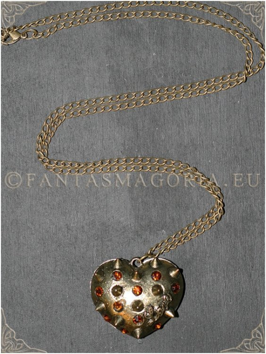 Steampunk Spikes Heart pendant 1