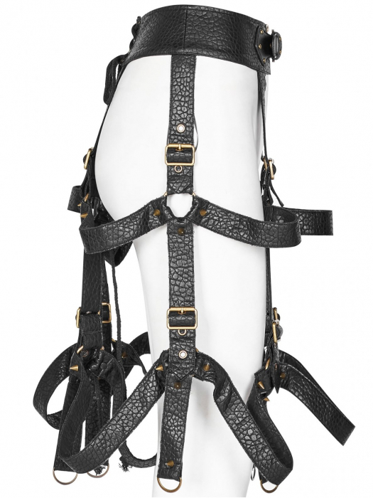The Cage harness-skirt WS-281/BK Punk Rave 1