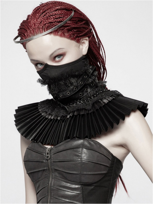 Valerian neck corset - collar with face mask WS-293/BK Punk Rave 1