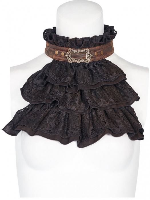 Viscount black jabot WS-292/BK Punk Rave 0