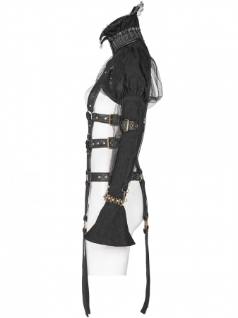 Ball Jointed Doll harness WY-1047-BK Punk Rave1