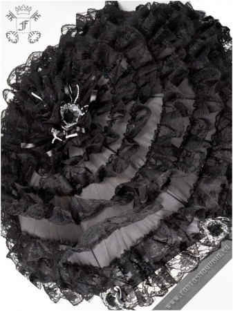Black Dust gothic lace parasol1
