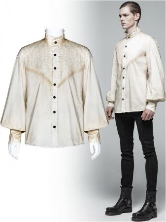 Charon shirt in white WY-1029/WH Punk Rave0