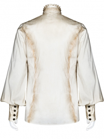 Charon shirt in white WY-1029/WH Punk Rave1