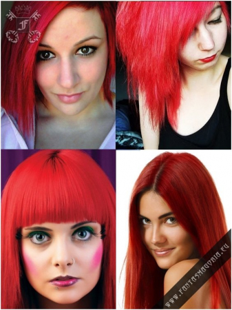 Coloring hair balsam - Poppy red1