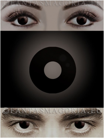 Dark Side Black colored 1-year contact eye lenses pair, no dioptres0