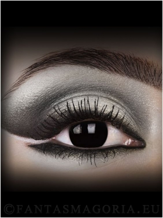 Dark Side Black colored 1-year contact eye lenses pair, no dioptres1