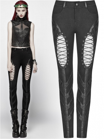 Extraterrestrial invasion trousers WK-346/BK Punk Rave0