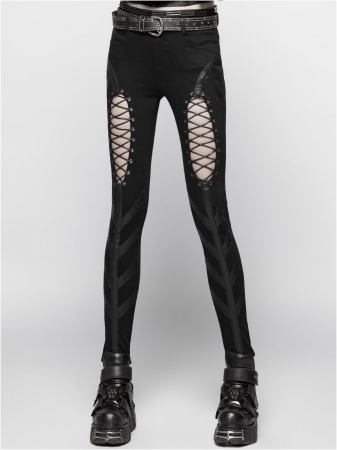 Extraterrestrial invasion trousers WK-346/BK Punk Rave1