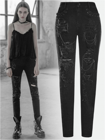Girl Stalker trousers OPK-209/BK Punk Rave0