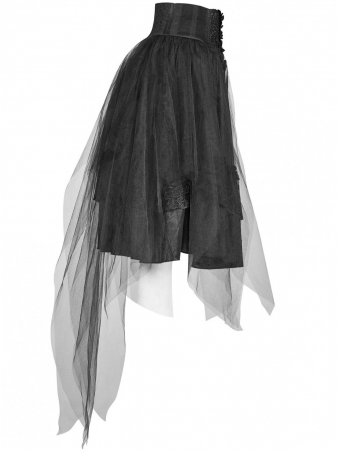 Gothic Butterfly skirt WLQ-091-BK Punk Rave1