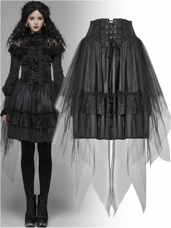 Gothic Butterfly skirt WLQ-091-BK Punk Rave0