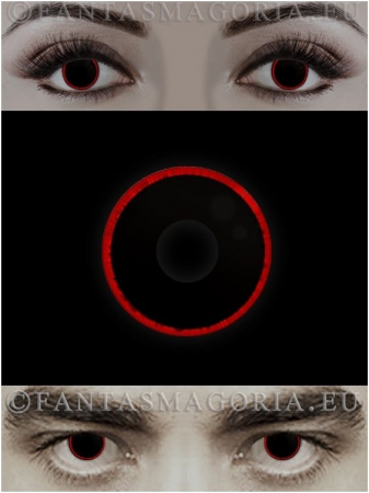 Hellraser black with red ring colored 1-year contact eye lenses pair, no dioptres1