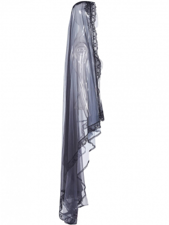 Lilith mourning veil WS-330/BK-GY Punk Rave1