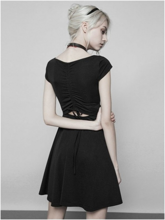 Little Black Swan dress OPQ-360/BK Punk Rave2