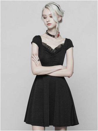 Little Black Swan dress OPQ-360/BK Punk Rave0