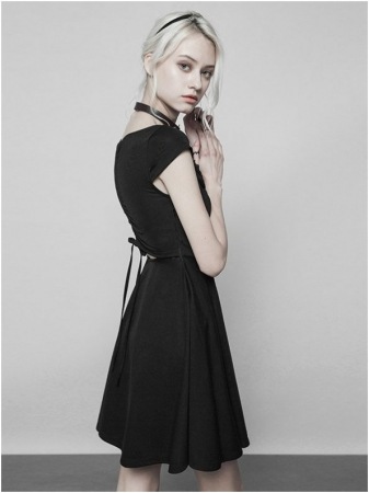 Little Black Swan dress OPQ-360/BK Punk Rave1