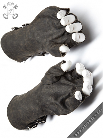 Mad Max grey gloves (PAIR) WS-252/GY Punk Rave1