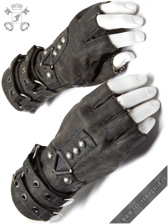 Mad Max grey gloves (PAIR) WS-252/GY Punk Rave0
