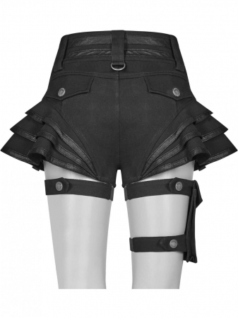 Maeve black shorts WK-373-BK Punk Rave2
