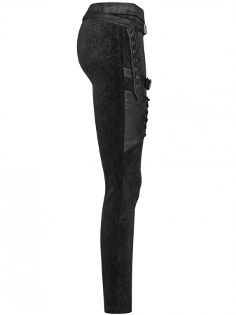 Maeve black trousers WK-374-BK Punk Rave1