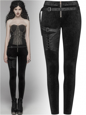 Maeve black trousers WK-374-BK Punk Rave0