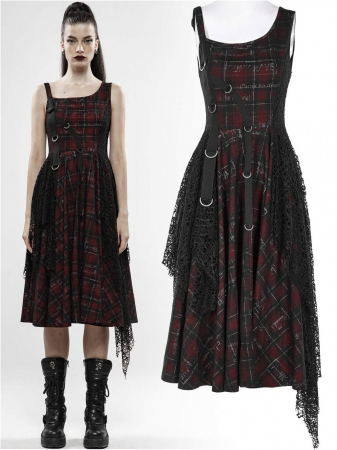 Misanthrope black/red dress WQ-457/BK-RD Punk Rave0