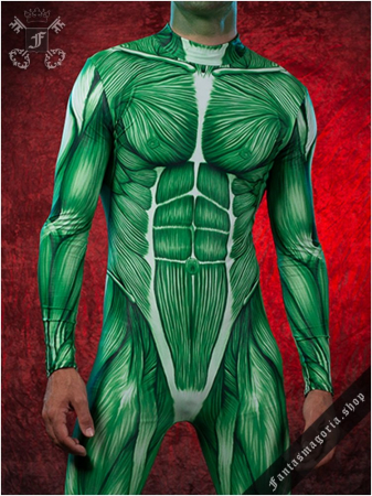 Muscle Man Zombie bodysuit costume BAD-BS-91