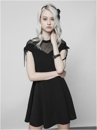 Nuria dress OPQ-368/BK Punk Rave0