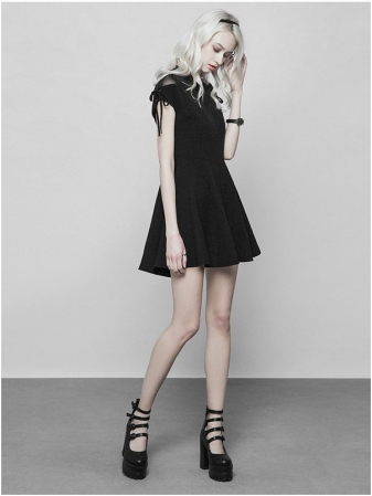 Nuria dress OPQ-368/BK Punk Rave2