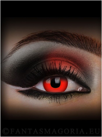 Red Devil Blood red colored 1-day crazy contact eye lenses pair, no dioptres1
