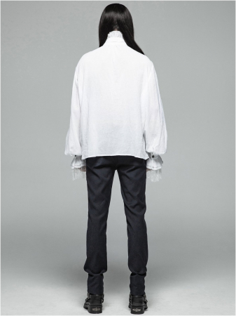 Roque Baroque shirt in white WY-1031/WH Punk Rave2