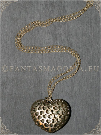 Steampunk Spikes Heart pendant2