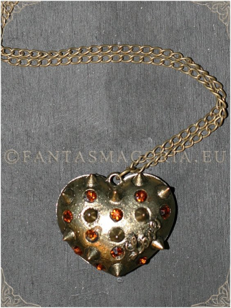 Steampunk Spikes Heart pendant0