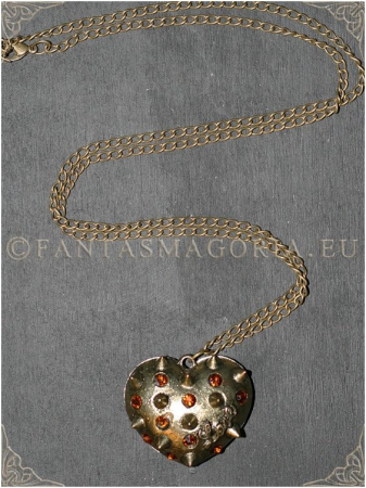 Steampunk Spikes Heart pendant1