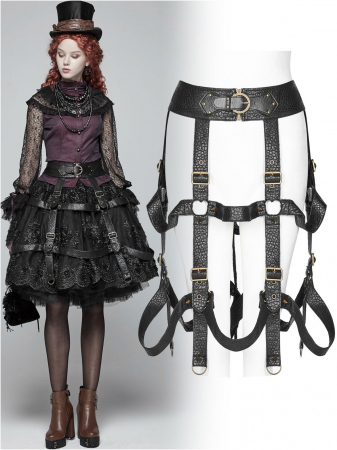 The Cage harness-skirt WS-281/BK Punk Rave0