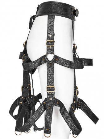 The Cage harness-skirt WS-281/BK Punk Rave1