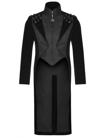 The Dynasty of Darkness frock coat Y-814BK Punk Rave0