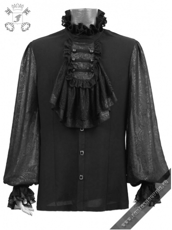 Vampyr shirt Y-522-BLACK Punk Rave0