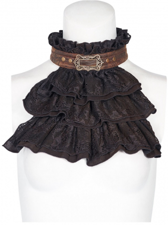 Viscount black jabot WS-292/BK Punk Rave0