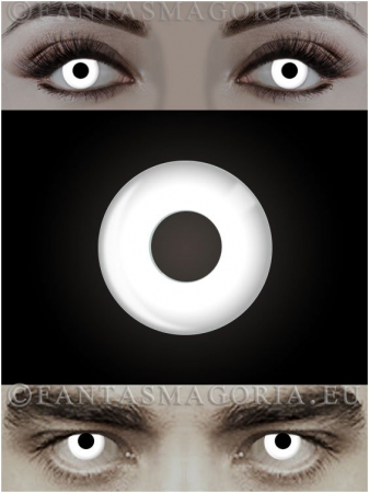 White Witch white colored 1-year contact eye lenses pair, no dioptres0