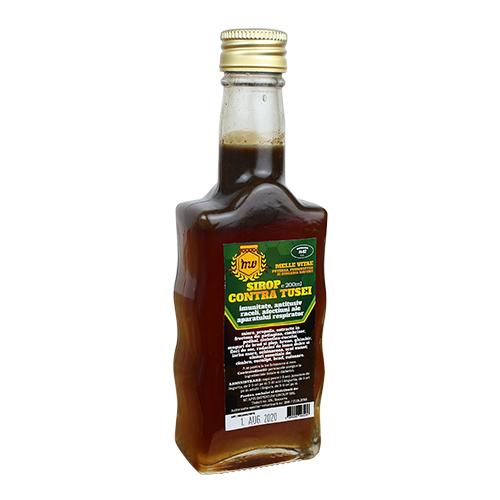 Sirop contre tusei ,produs natural din zona bcovinei pe baza de miere si prodse apicole.  recomandari(imunitate,antitusiv,raceli ale aparatului respirator.  Continut :miere,propolis,extras din fructoza de patlagina ,cimbrisor,potbal,ciubotica cucului ,muguri de brad si plop,hrean,ghimbir,flori de soc,radacini de lemn dulce si iarba mare ,ecinacee,scai vanat,uleiuri esentiale de cimbru,eucalipt ,brad cuisoare . 0