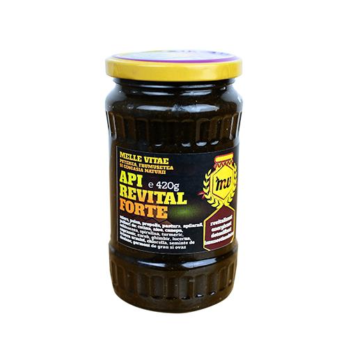 Mix imunostimulator, nutritiv si energizant din miere, propolis si extract de spirulina, Apirevital forte, Mellevitae, 420g