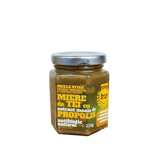 Miere de tei cu extract moale de propolis,Mellevitae,440g 0
