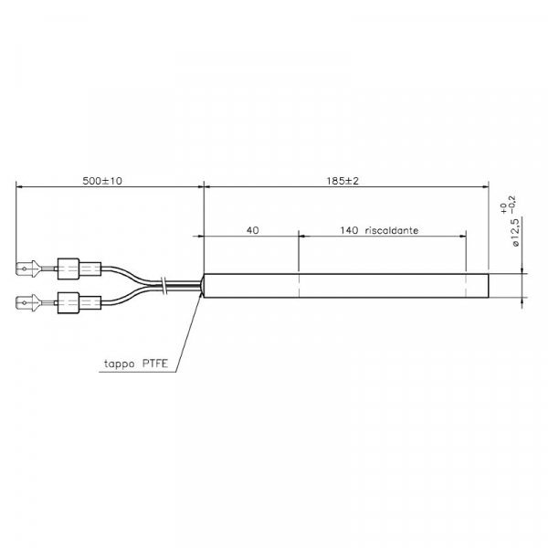Rezistenta CLAM 12,7mm 187mm 400wati (HT64686) 1